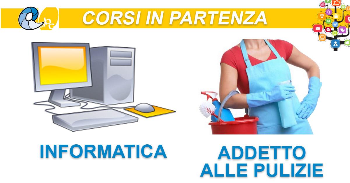 Corsi in Partenza: Addetto alle pulizie ed Informatica